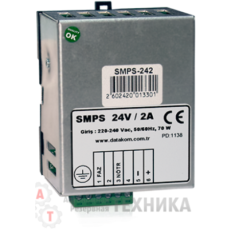 Зарядное устройство SMPS-124 (монтаж на Din-рейку)