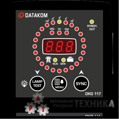 Контроллер DATAKOM DKG-117 96*96 СИНХРОСКОП И РЕЛЕ ВКЛЮЧЕНИЯ СИНХРОНИЗАЦИИ