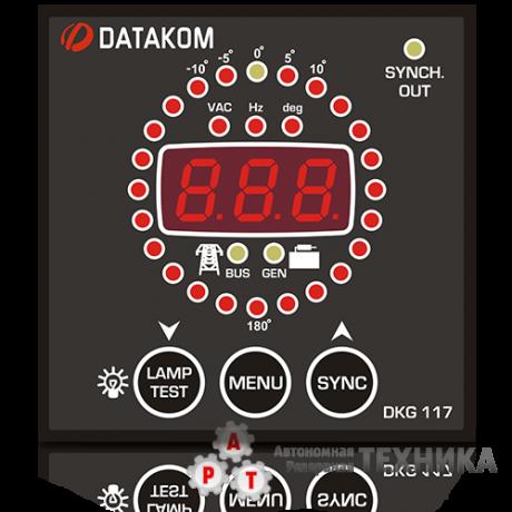Контроллер DATAKOM DKG-117 72*72 СИНХРОСКОП И РЕЛЕ ВКЛЮЧЕНИЯ СИНХРОНИЗАЦИИ