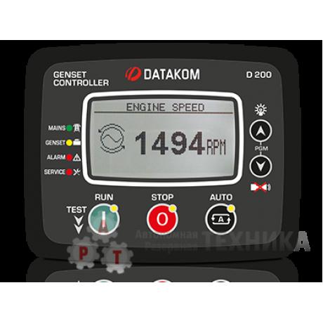 Контроллер DATAKOM D-200 ДЛЯ ГЕНЕРАТОРА (MPU, ПОДОГРЕВ ДИСПЛЕЯ)